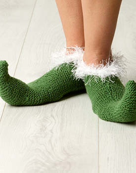 Merino Elf Slippers Free Christmas Knitting Pattern
