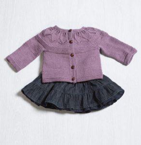 Provence Leafy Cardigan Free Knitting Pattern