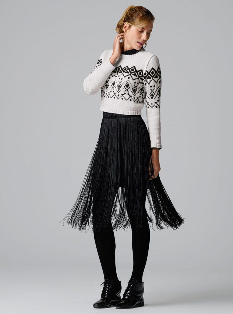 Short Fair Isle Sweater Free Knitting Pattern