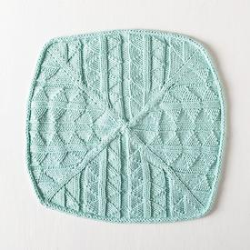 Triangle Squared Dishcloth Free Knitting Pattern