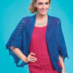 Two Way Sparkly Shawl Free Knitting Pattern