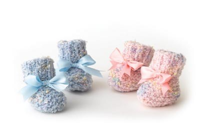 2 needle Baby Booties Free Knitting Pattern