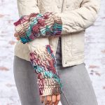 Dragon Scale Mitts Free Knitting Pattern