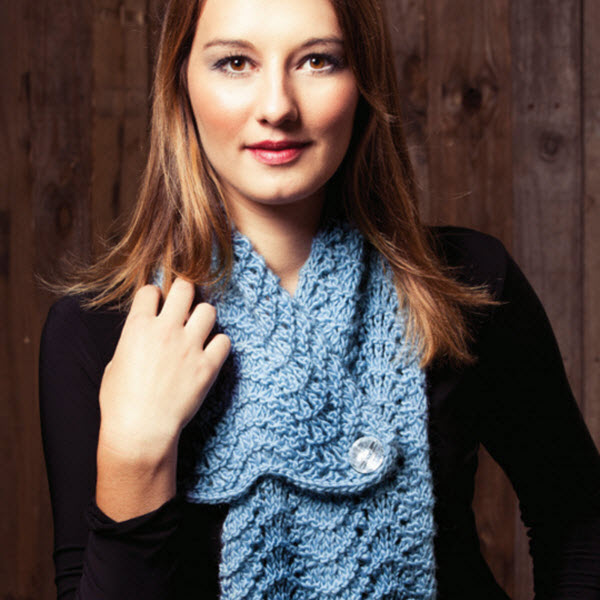 Adorable Fan Stitch Scarf Free Knitting Pattern