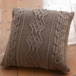 Aran Cushion Free Knitting Pattern