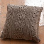 Aran Cushion Free Knitting Pattern