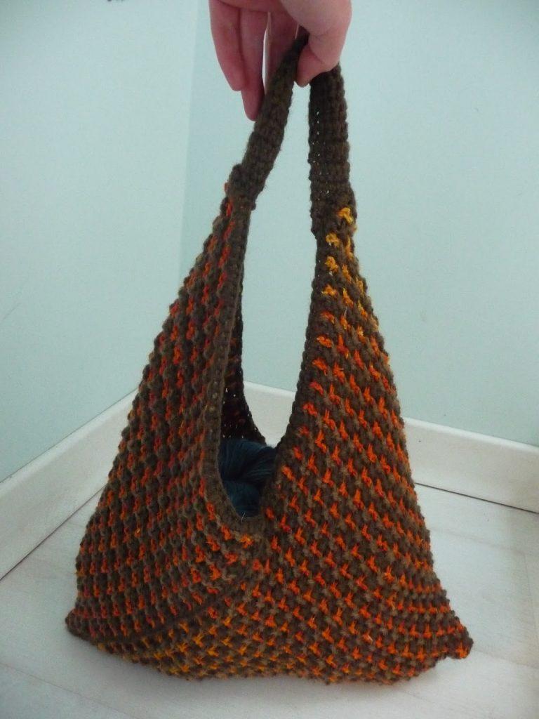 Bento Bag Free Knitting Pattern