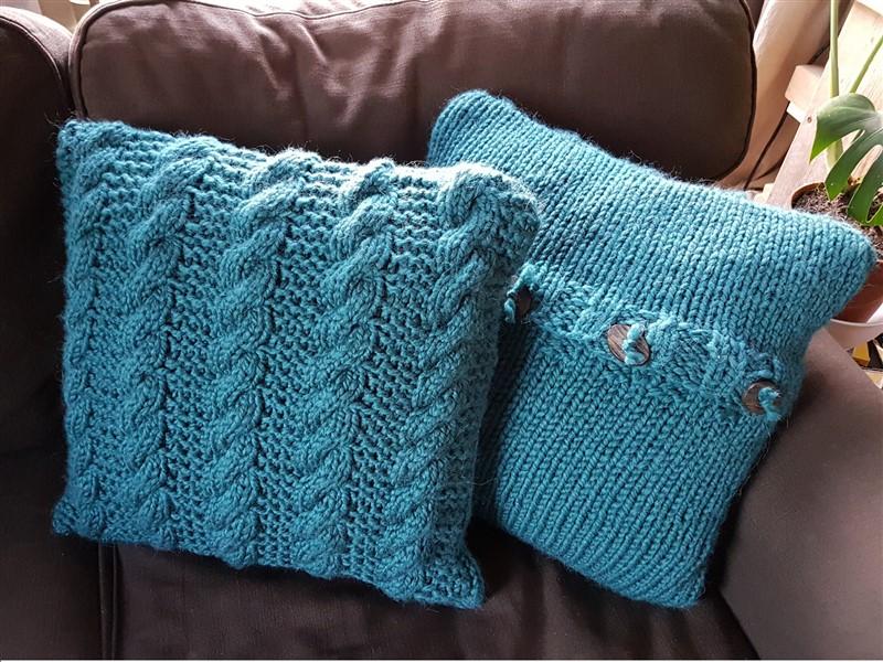 Blackwater Rambles Free Pillow Knitting Pattern