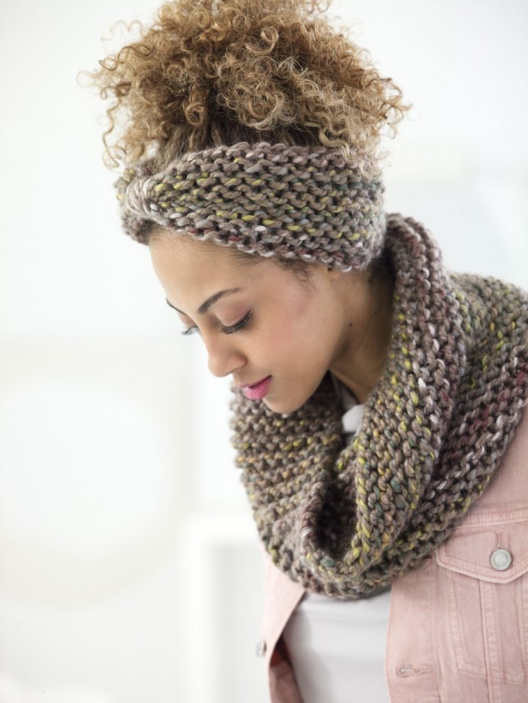 Boro Park Cowl And Headband Free Knitting Pattern ⋆ Knitting Bee
