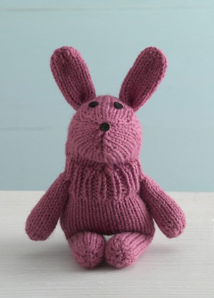 Bouncy Bunny Sock Critter Free Toy Knitting Pattern