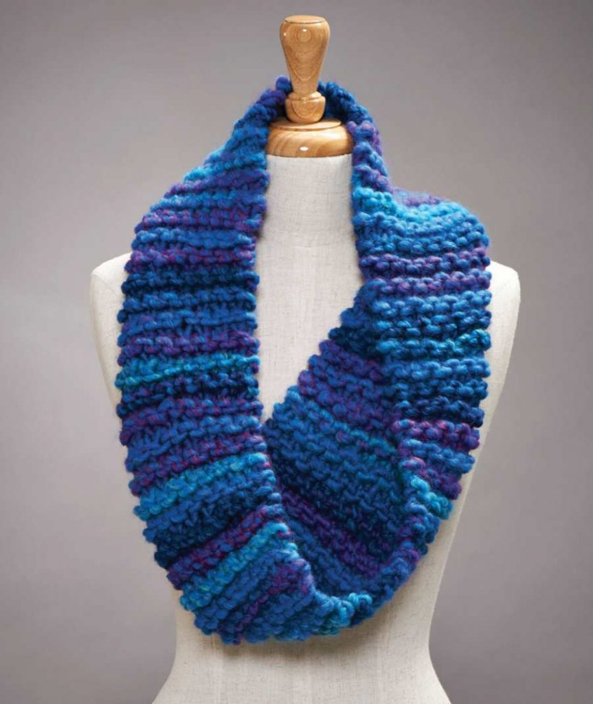 Free free garter stitch cowl knitting patterns Patterns ⋆ Knitting ...