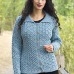 Cables and Lace Cardigan Free Knitting Pattern