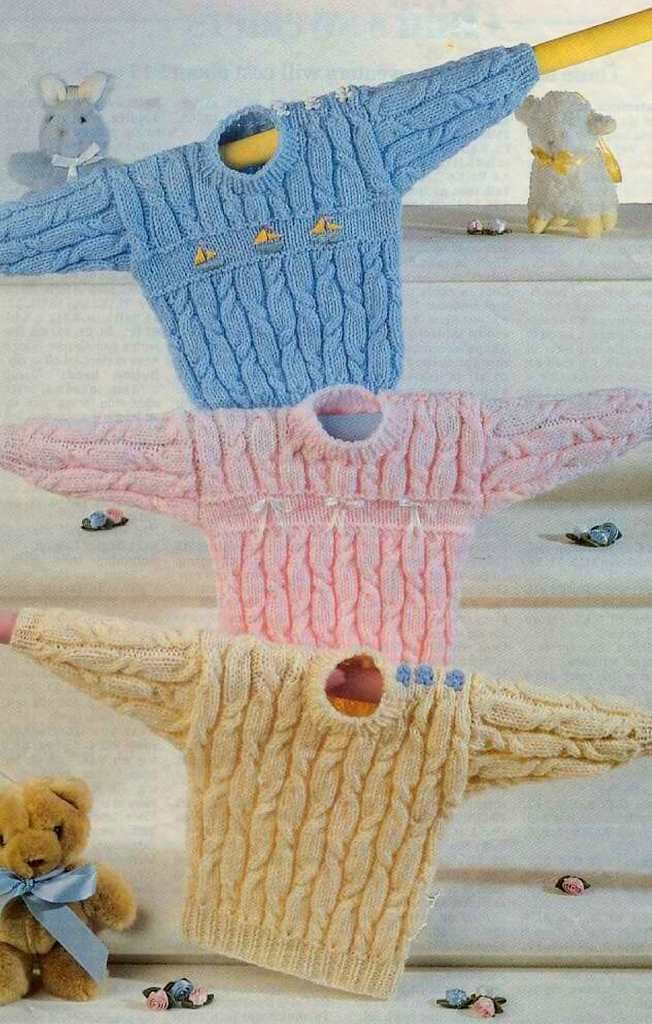 Child's Vintage Cabled Sweater Free Knitting Pattern