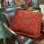Chunky Diagonal Cushion Free Knitting Pattern