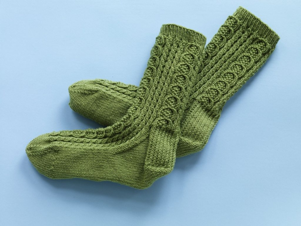 Classic Cable Socks Free Knitting Pattern