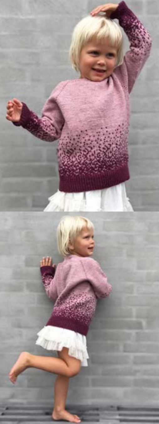 Colorwork Ombre Children\'s Free Sweater Knitting Pattern ⋆ Knitting Bee