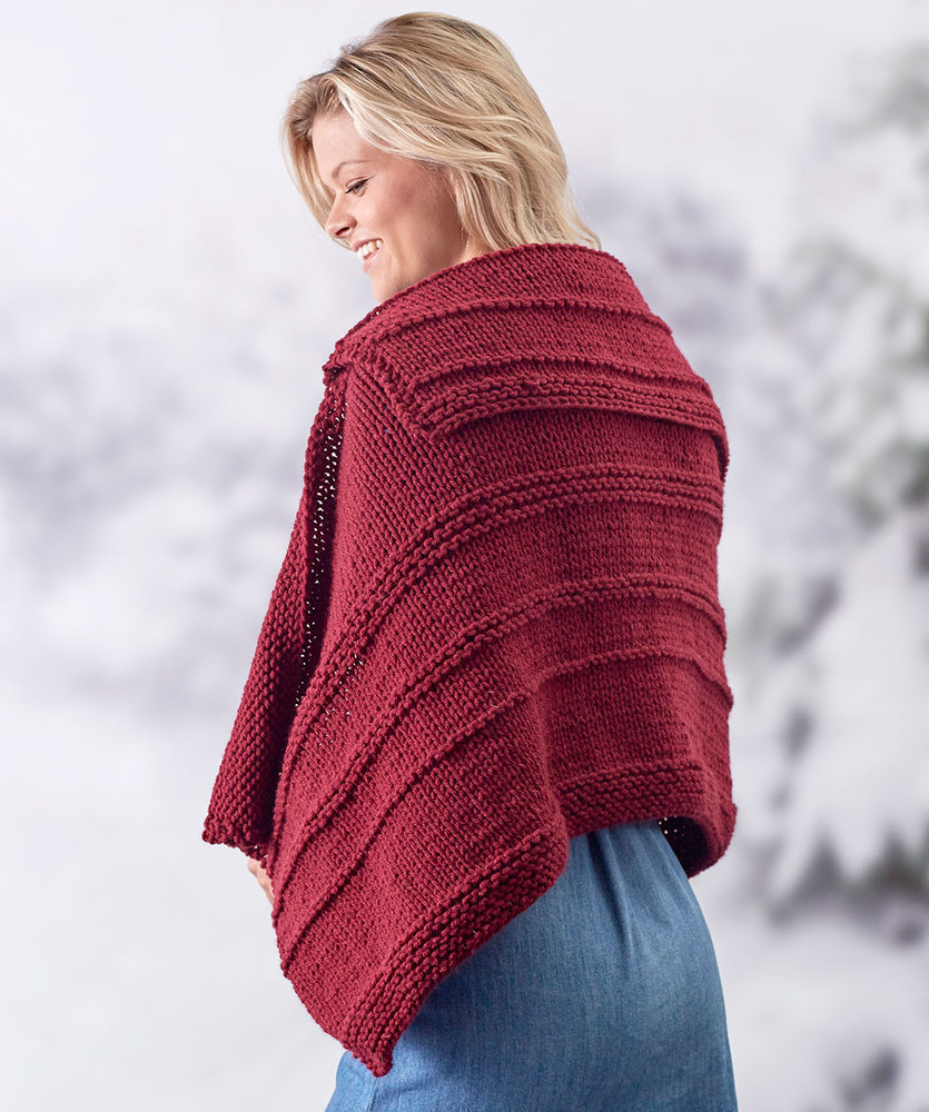 Creative Collar Shawl Free Knitting Pattern 1 ⋆ Knitting Bee