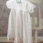 Delicate Lace Christening Gown Free Knitting Pattern