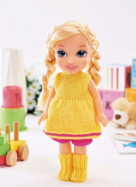 Easy Dolls' Clothes Free Knitting Pattern