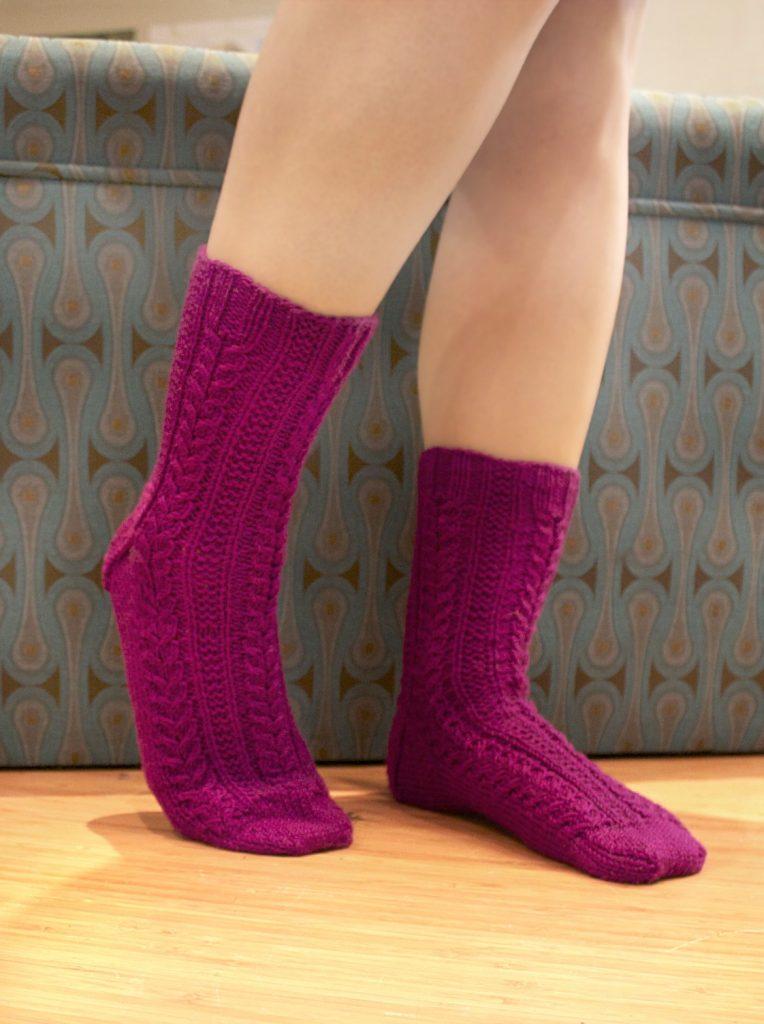 Elegance Socks Free Knitting Pattern