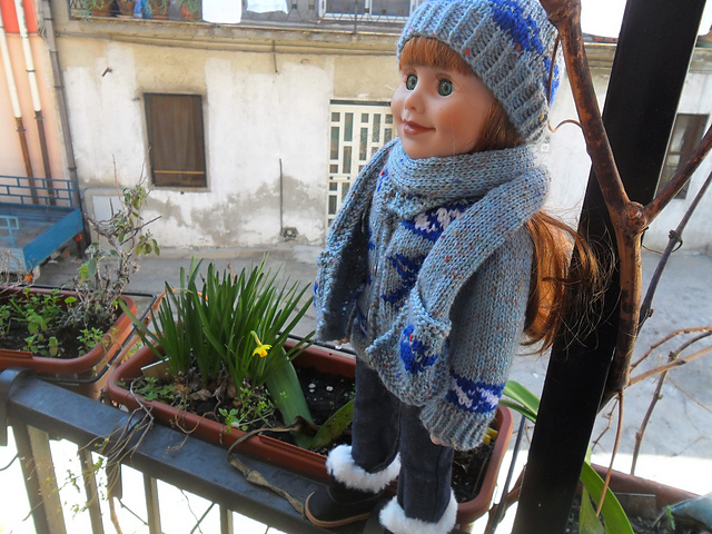 Free Knitting Pattern For 18 Quot Doll Hat And Scarf