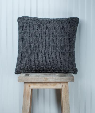 Geometric Pillow Cover Free Knitting Pattern