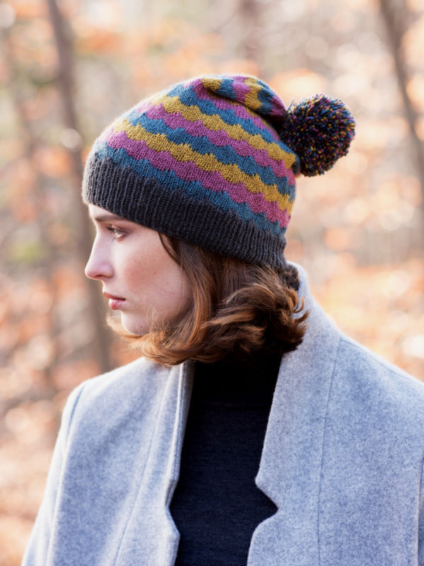 Giedi Colorknit Hat Free Knitting Pattern