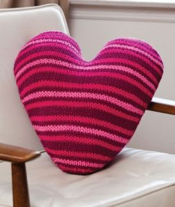 Heart Knitting Pattern Free Pillow