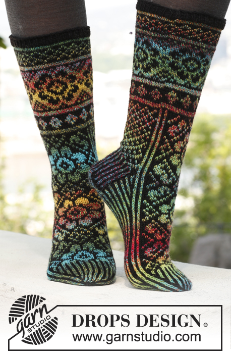 Irish Dream Fair Isle Socks Free Knitting Pattern