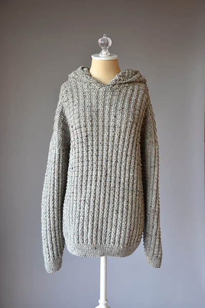 Free Free Hooded Sweater Knitting Patterns Patterns Knitting Bee