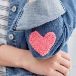 Knit Heart Applique Free Knitting Pattern