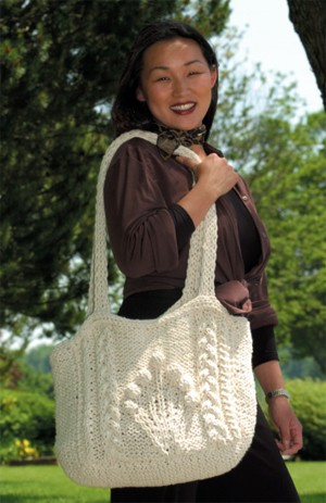 Knitted Flower Bag Free Pattern