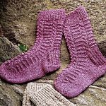 Ladder Twist Socks Free Knitting Pattern