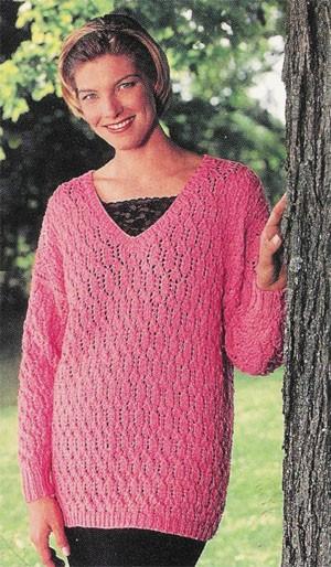 Leaf Pattern Tunic Free Knitting Pattern