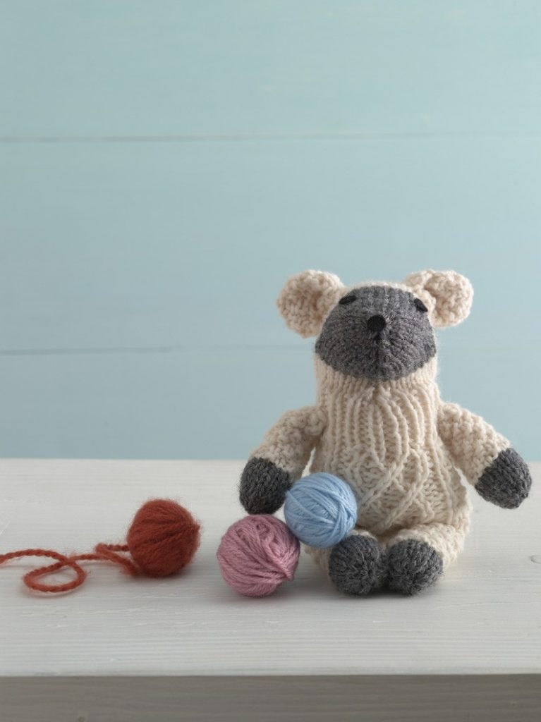 Little Lamb Sock Critter Free Toy Knitting Pattern