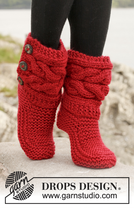 Little Red Riding Slippers Free Knitting Pattern