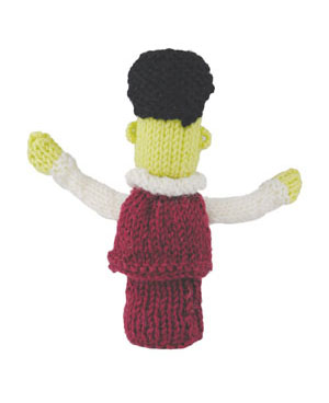 Micky Monster Finger Puppet Free Toy Knitting Pattern