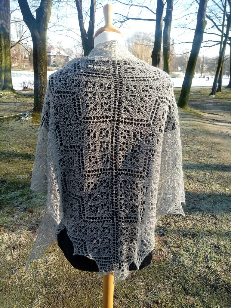 Millefiori Shawl Free Lace Knitting Pattern