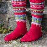 Mistle-Toes Christmas Fair Isle Socks Free Knitting Pattern