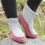 Nanna Garter Stitch Slippers Free Knitting Pattern