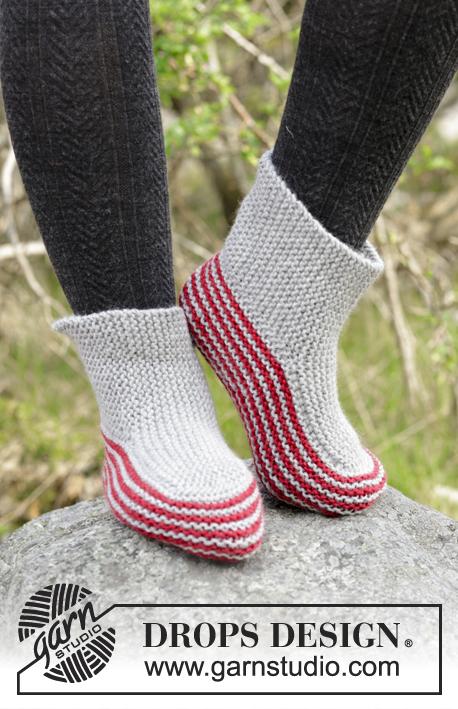 Nanna Garter Stitch Slippers Free Knitting Pattern