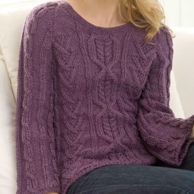 Knitting Patterns Sweater Modern : New aran sweater free knitting pattern bee