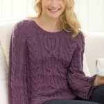New Aran Sweater Free Knitting Pattern
