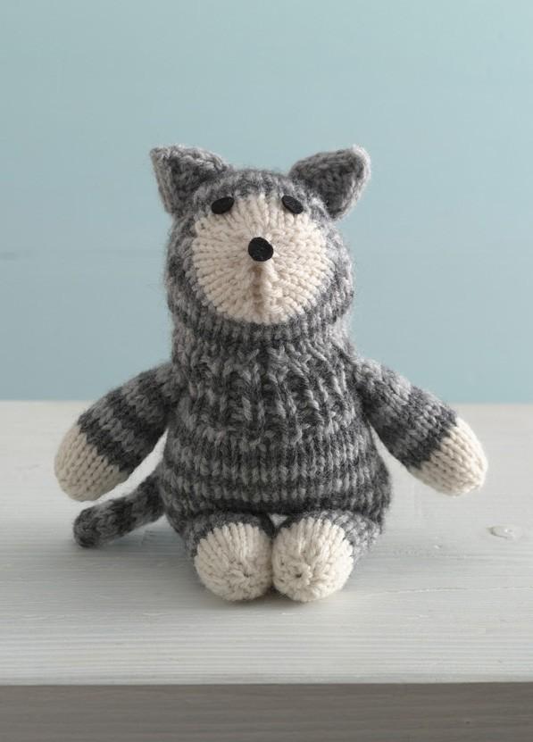 Purrfect Kitty Sock Critter Free Toy Knitting Pattern