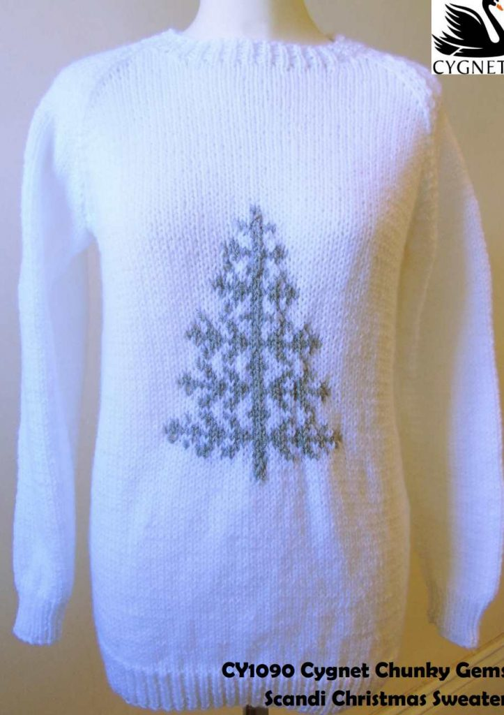 Scandi Christmas Sweater Free Knitting Pattern