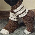 Scrunchy, Slouchy Slipper Socks Free Knitting Pattern