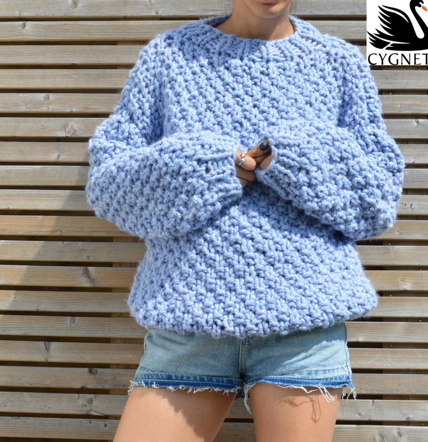 Seriously Chunky Free Sweater Knitting Pattern ⋆ Knitting Bee