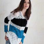 Striped Summer Sweater Free Knitting Pattern