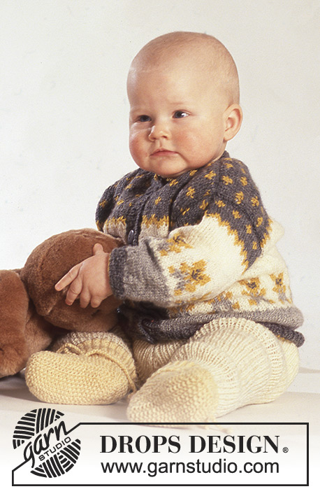 Teddy Top Fair Isle Baby And Toddler Cardigan Pants And
