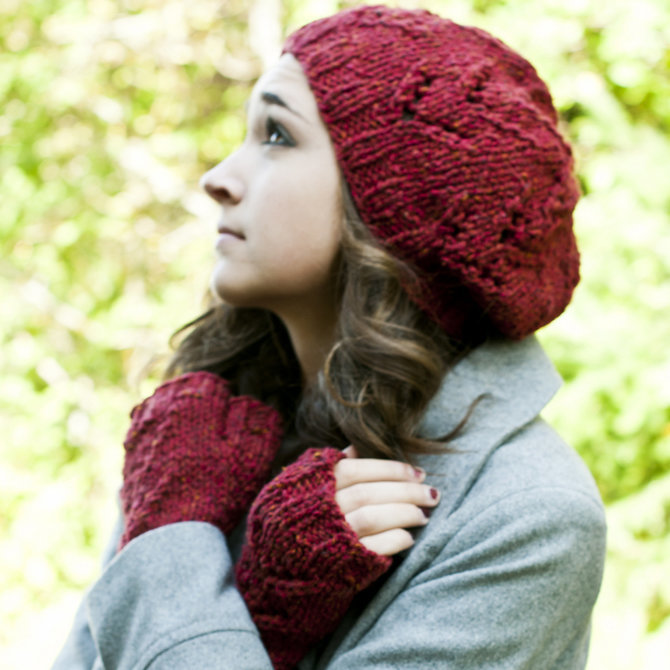 Tivoli Hat and Mitts Free Knitting Pattern